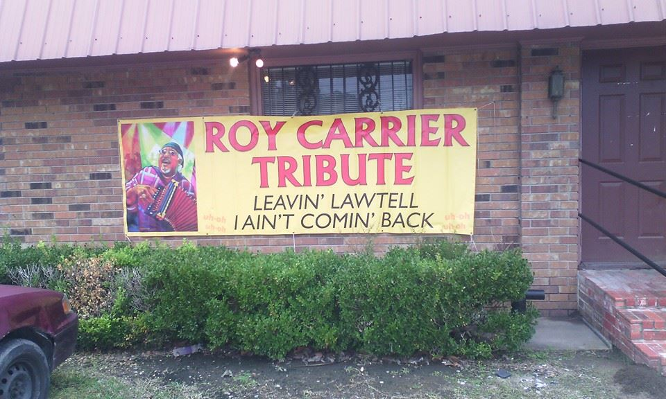 Roy Carrier Tribute outside Banner