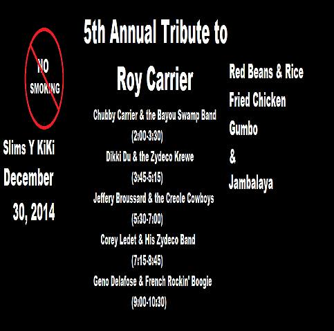 2014 Roy Carrier Tribute Flyer